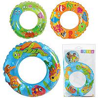 Детский надувной круг для плавания «Цветной с рыбками» | «Intex»