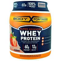 Body Fortress, Super Advanced Whey Protein Порошок, Strawberry, 2 lbs (32 oz) (907 g)