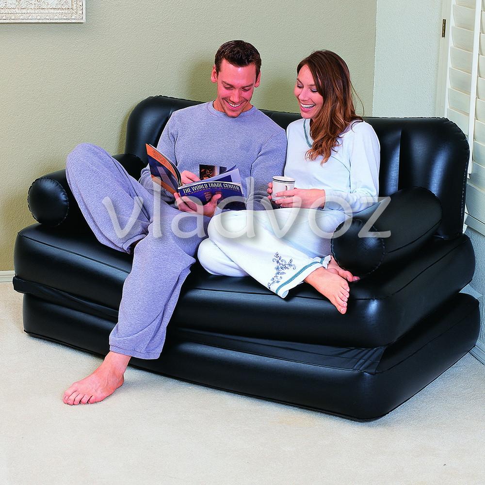 фото надувной кровати дивана трансформера bestway 75056