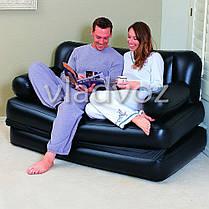 Надувная кровать диван трансформер с насосом 5в1 bestway 75056 188х152х64см, фото 3