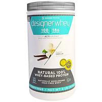 Designer Protein, Дизайнерская молочная сыворотка, с Акти-Бленд, натуральный 100%-ный белок на базе молочной сыворотки, французская ваниль, 2 фунта