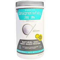 Designer Protein, Дизайнерская молочная сыворотка, с Акти-Бленд, без ароматизаторов, 2 фунта (908 г)