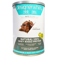 Designer Protein, Дизайнерская молочная сыворотка, с Акти-Бленд, натуральный 100%-ный белок на базе молочной сыворотки, двойной шоколад, 12 унций (340