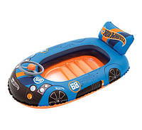 Надувная одноместная лодка Машина Hot wheels Bestway