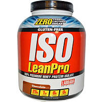 Labrada Nutrition, ISO LeanPro, 100% изолят сывороточного белка, шоколад, 5 фунтов (2268 г)