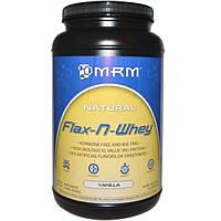 MRM, Flax-N-Whey, сывороточный протеин с семенами льна и вкусом лимона, 904 г