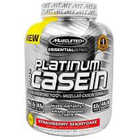 Muscletech, 100%-ный Казеин Серии Platinum, Слоеный Торт с Клубникой, 3,62 унции (1,64 кг)
