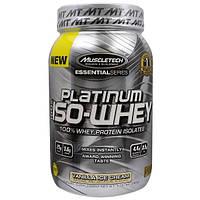 Muscletech, 100%-ная Изо-Сыворотка Серии Platinum, Ванильное Мороженое, 1,76 унций (797 г)