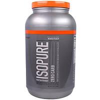 Natures Best, IsoPure, Протеиновый порошок Isopure, не содержит углеводов, манго и персик, 3 фунта (1361 г)