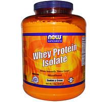 Now Foods, Изолят сывороточного протеина, печенье и крем, 5 фунтов (2268 г)