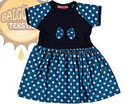 Платье в горошек с коротким рукавом для девочки 2,3,4,5 лет. 43639