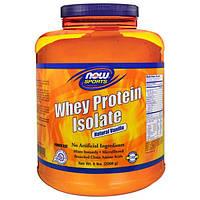 Now Foods, Спорт, Изолят Сывороточного Протеина, Натуральная Ваниль, 5 фунтов. (2268 г)