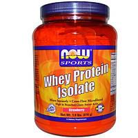 Now Foods, Спорт, изолят сывороточного протеина, с клубничным вкусом, 1,8 кг (816 г)