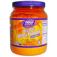 Now Foods, Спортпит, натуральный сывороточный белок, без вкуса, 454 г (1 фунт)
