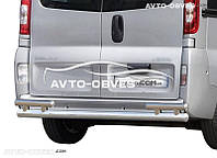 Нижняя защита заднего бампера Opel Vivaro (на стойках)