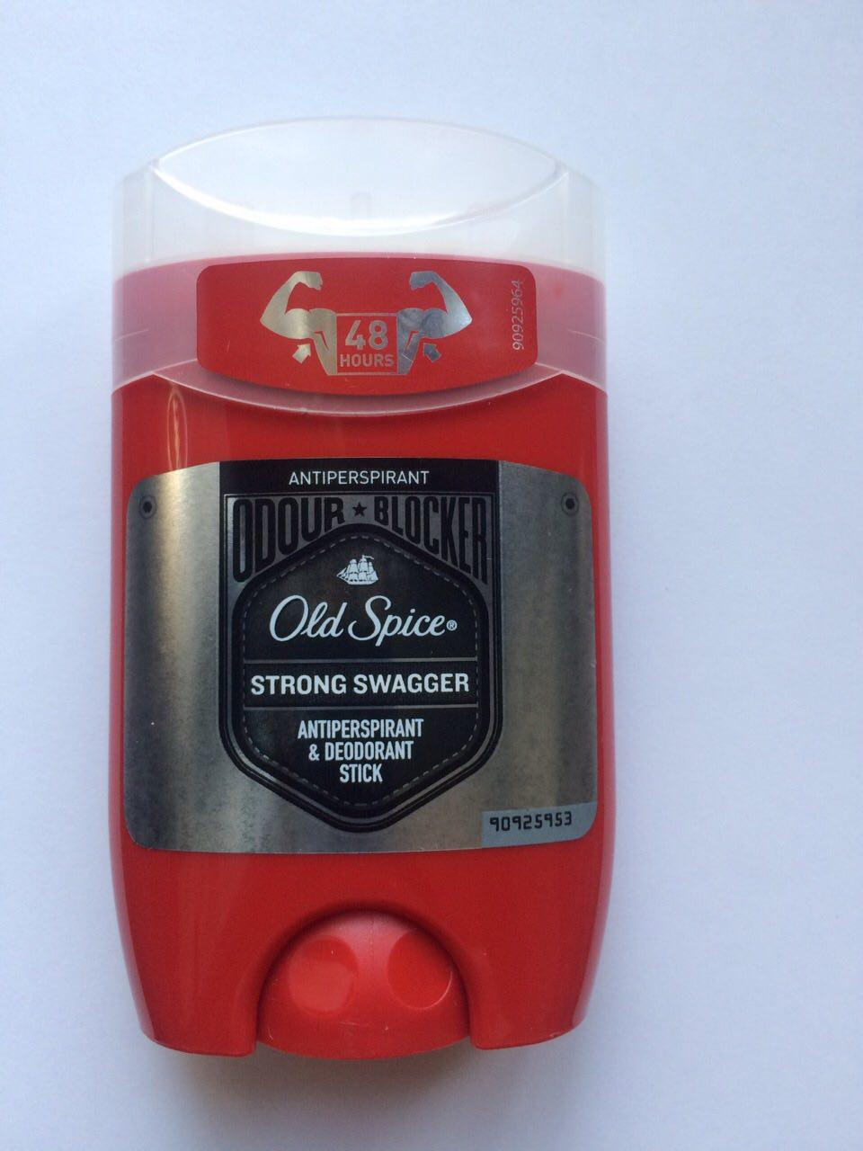 Твердый мужской дезодорант антиперспирант Old Spice Strong Swagger 50 мл. (Олдспайс Швагер стик)