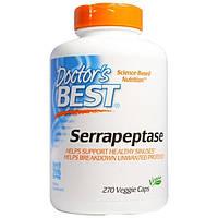 Doctors Best, Серрапептаза, 270 капсул в растительной оболочке