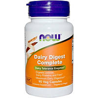 Now Foods, Dairy Digest Complete, 90 вегетарианских капсул