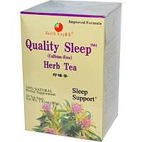 Health King, Качественный сон, травяной чай, без кофеина, 20 пакетиков, 40 г