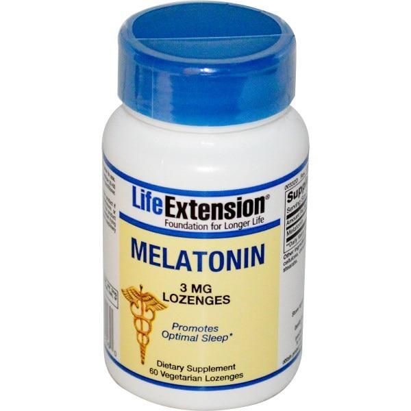 Life Extension, Мелатонин, 3 мг, 60 пастилок