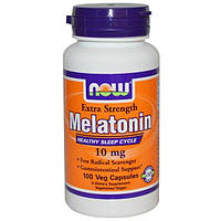 Now Foods, Melatonin, 10 мг, 100 растительных капсул