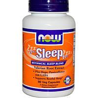 Now Foods, Sleep, растительный снотворный сбор, 90 вегетарианских капсул