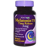 Natrol, Мелатонин TR, Time Release, 3 мг, 100 таблеток