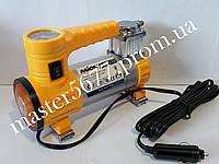 Миникомпрессор автомобильный с фонариком 12B