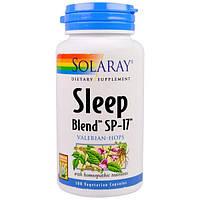 Solaray, Sleep Blend SP-17, Valerian-Hops, 100 Easy-To-Swallow Capsules