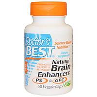 Doctors Best, Натуральные средства для улучшения работы мозга PS и GPC, 60 вегетарианских капсул