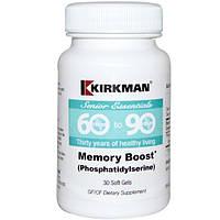 Kirkman Labs, Senior Essentials 60 to 90 Years, Memory Boost* (Phosphatidylserine), 30 Soft Gels