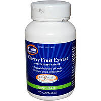 Enzymatic Therapy, Экстракт плодов черешни, экстракт черешни, здоровье суставов, 90 капсул