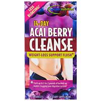 Irwin Naturals, 14-дневный курс очистки с ягодами акаи, 56 таблеток
