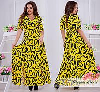 Красивое женское платье в пол, с принтом