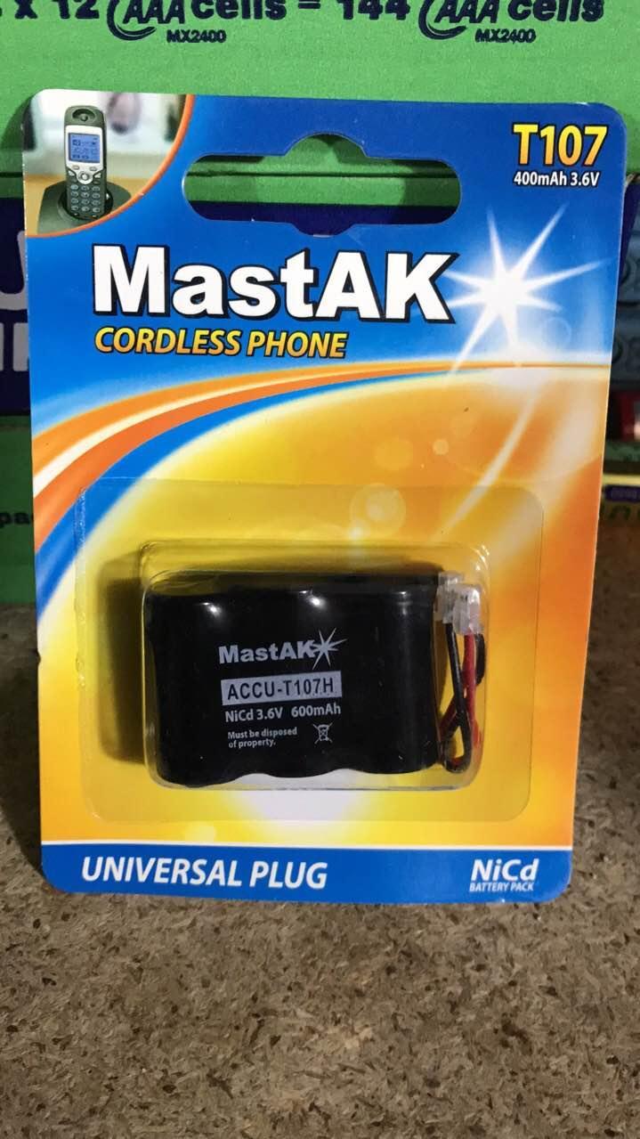 Аккумулятор MastAK T107H (T301) 3,6V 600mAh