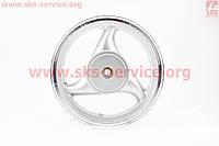 D24 Диск литой задний (бараб. торм. для 50сс)  MT3,0xJ12 (немного с налетом по ободу)