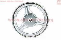 D08 Диск литой задний (бараб. торм. для 150сс)  MT3,5x13, серебристый