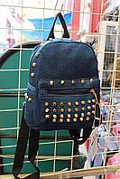 Джинсовый рюкзак с шипами