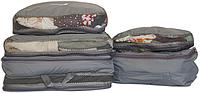 Сумки-органайзеры для вещей в чемодан, 5шт серый