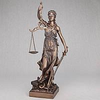 """Фирменная статуэтка """"Фемида"""" 32 см. под бронзу"""