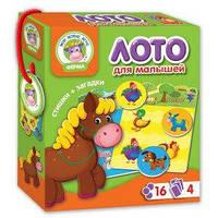 Развивающая игра лото | Vladi Toys VT 2100-03 Ферма | украинский язык