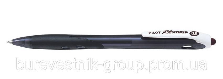 """Ручка Pilot BPRG-10R-EF """"REX GRIP"""" 0.5 черная"""