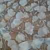 Тюль муар с рисунком белые цветы