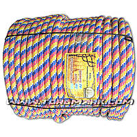Фал веревка 14 мм полип. - цветной -  100 м - Украина