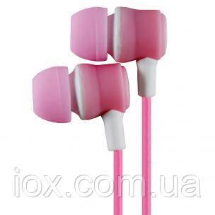 Вставные наушники вкладыши Awmax J-4 розовые