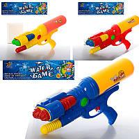 Детский водяной пистолет M 0169 помпа, размер большой, 45см, 3 цвета, в кульке, 28,5-57-8см
