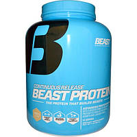 Beast Sports Nutrition, Непрерывное высвобождение, сила белка, ваниль, 4 фунта (1814 г)