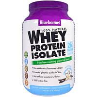 Bluebonnet Nutrition, На 100% натуральный изолят сывороточного протеина, натуральная французская ваниль, 2 фунта (924 г)