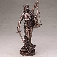 "Фирменная статуэтка ""Фемида"" Veronese 26 см. под бронзу"