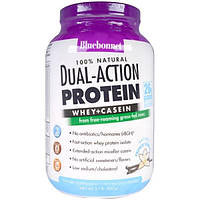 Bluebonnet Nutrition, Dual-Action Protein, Whey + Casein, Natural French Vanilla Flavor, 2.1 lb (952 g)